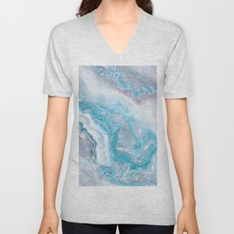 Ocean Foam Mermaid Marble Unisex V-Neck