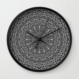 Zen Black and white Mandala Wall Clock