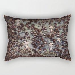 Soot sprites (Susuwatari) Rectangular Pillow