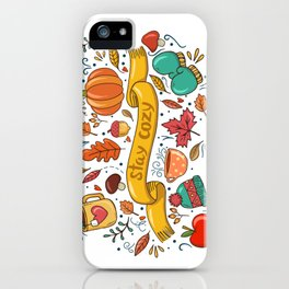 Stay Cozy in Autumn iPhone Case