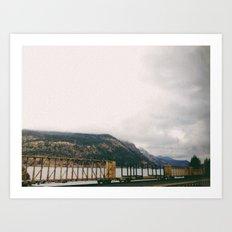 Cargo Train Art Print