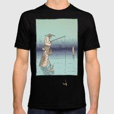 Fishing Mens Fitted Tee MEDIUM Black