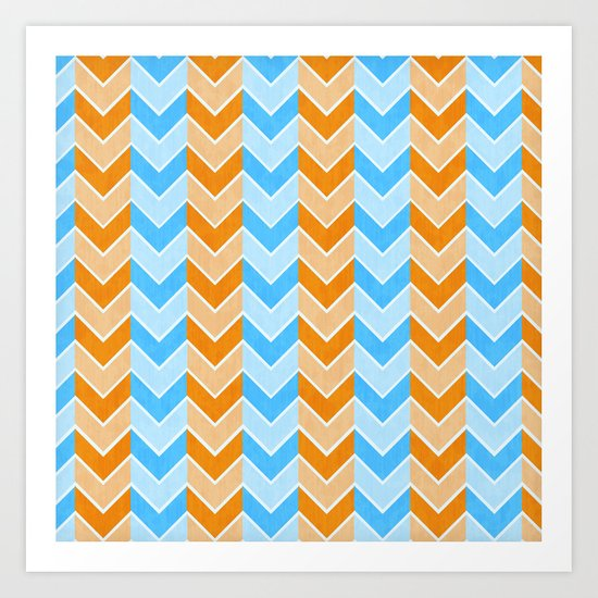 Something Fishy Zig Zag Art Print