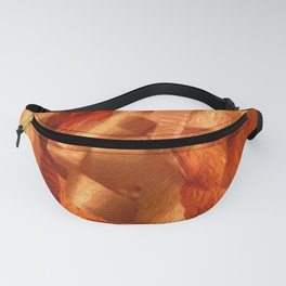 Neon Carrot Ribbon Fanny Pack