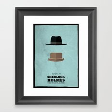 Sherlock Holmes (2009) - minimal poster Framed Art Print