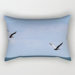 Pair of Pelicans Rectangular Pillow