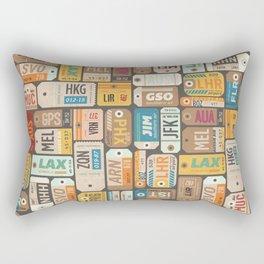 Luggage Tags Retro Rectangular Pillow