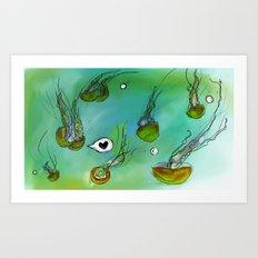 Jellies Art Print
