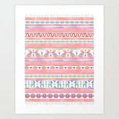 Mexican Blanket Art Print