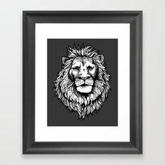 Lion (on dark) Framed Art Print