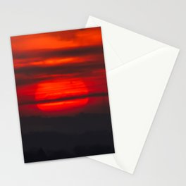 Sunset At Virginville, Pennsylvania Stationery Cards