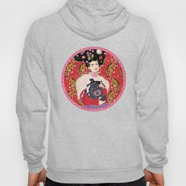 Let your mind blossom - Fashion portrait Hoody