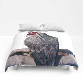 Gyrfalcon - falcon painting Comforters