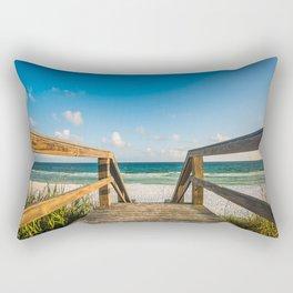 Head to the Beach - Boardwalk Leads to Summer Fun in Florida Rectangular Pillow