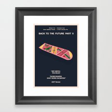 Back To The Future Part II Framed Art Print