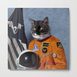 Cats astranout Metal Print