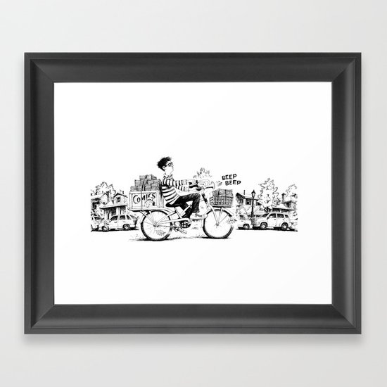 Comics Carrier Framed Art Print