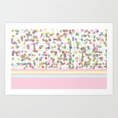 Lots of Dots Rose Art Print