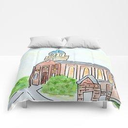 University of Dayton watercolor, UD Chapel, Dayton, OH Comforters