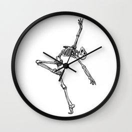 Ballet Skeleton Wall Clock