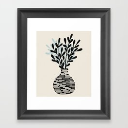 Still Life with Vase and Tree Branches Framed Art Print
