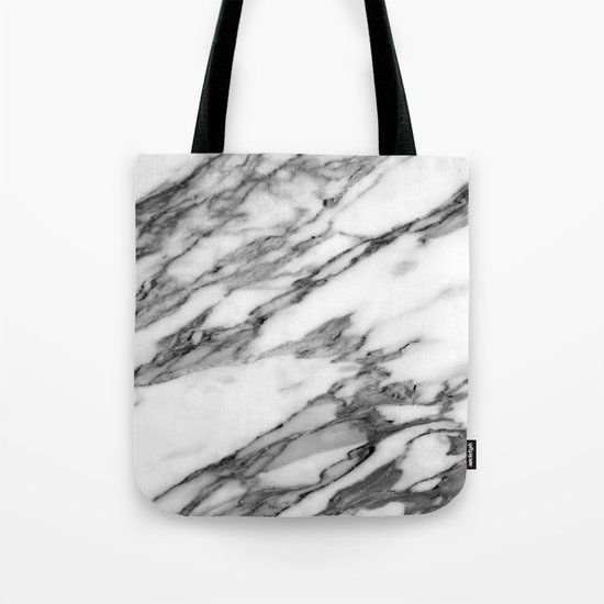 Carrara marble Tote Bag