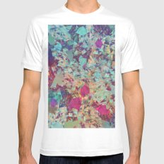 Spaced Geometric White MEDIUM Mens Fitted Tee