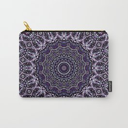 Purple, Gray, and Black Kaleidoscope 2 Carry-All Pouch