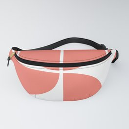 Mid Century Modern Living Coral Square Fanny Pack