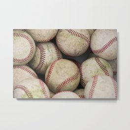 Many Baseballs - Background pattern Sports Illustration Metal Print