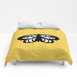 Les Papillons (Yellow) Comforters