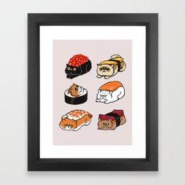 Sushi Persian Cat Framed Art Print