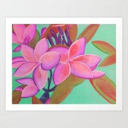 Pink Flowers Pink Art Print