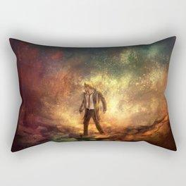 Carrying Hell Rectangular Pillow