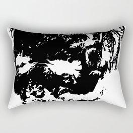 Zombie Face Rectangular Pillow