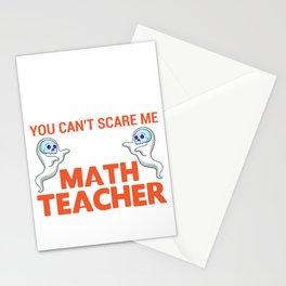 Lustiger Geist Math Lehrer kann nichts erschrecken Design design Stationery Cards