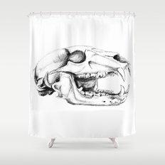 Bear Skull Shower Curtain