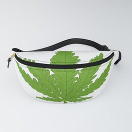 Go Green Marijuana Weed Leaf Graphic product Fanny Pack