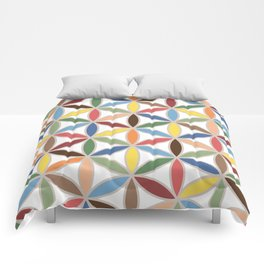 Flower of Life Retro Color Big Pattern Comforters