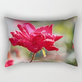 Red Diamond And Lace Rectangular Pillow