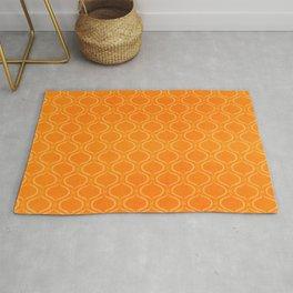 Retro Tangerine Print / Geometric Pattern Rug