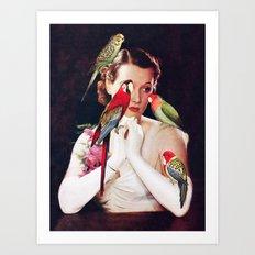 Bird Lady Art Print