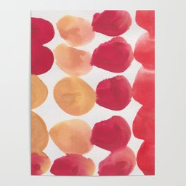 7  | 190408 Red Abstract Watercolour Poster