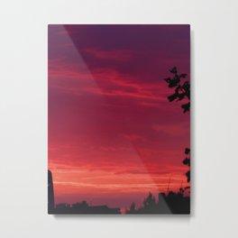Sunset - July Pink Metal Print