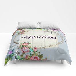 #Amwriting Floral Quote Comforters