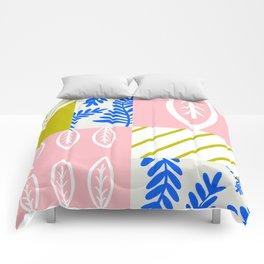 spring leaf patchwork Comforters