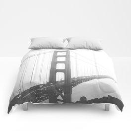 Golden Gate Bridge in San Francisco, California Comforters