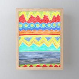 Sunrise Geometrics Framed Mini Art Print