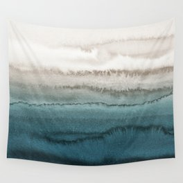 WITHIN THE TIDES - CRASHING WAVES TEAL Wall Tapestry