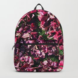 Heart of Love | Red and Pink Fall Leaves Hand Drawn Heart Shape Design Backpack